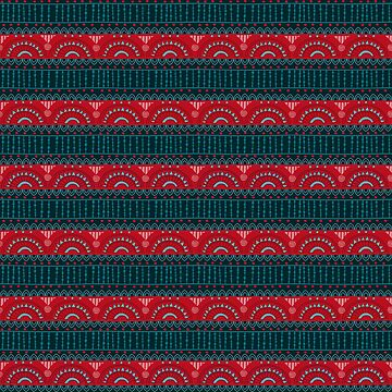 Tribal Pattern - Red Bands by Skullz23