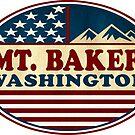 Snowboarding Mount Baker Skiing Washington Ski Mountains by MyHandmadeSigns