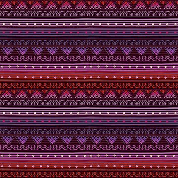 Tribal Pattern - Reddish Pink by Skullz23