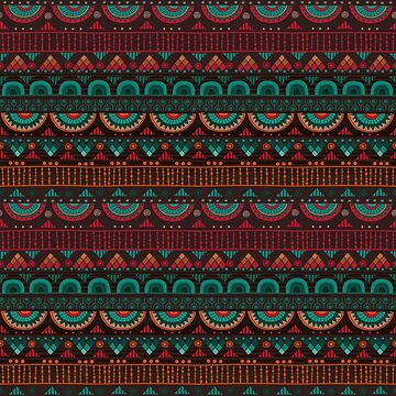 Tribal Pattern - Red Green by Skullz23