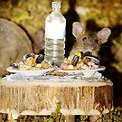 Mouse having dinner by Simon-dell