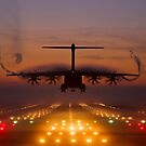 Atlas A400M Sunset Landing by andy lewis