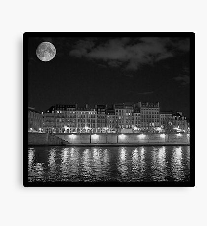 Moonlight and Île Saint-Louis Canvas Print