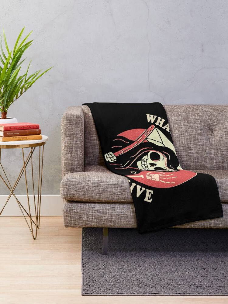 Alternate view of What A Time To Be Alive Throw Blanket