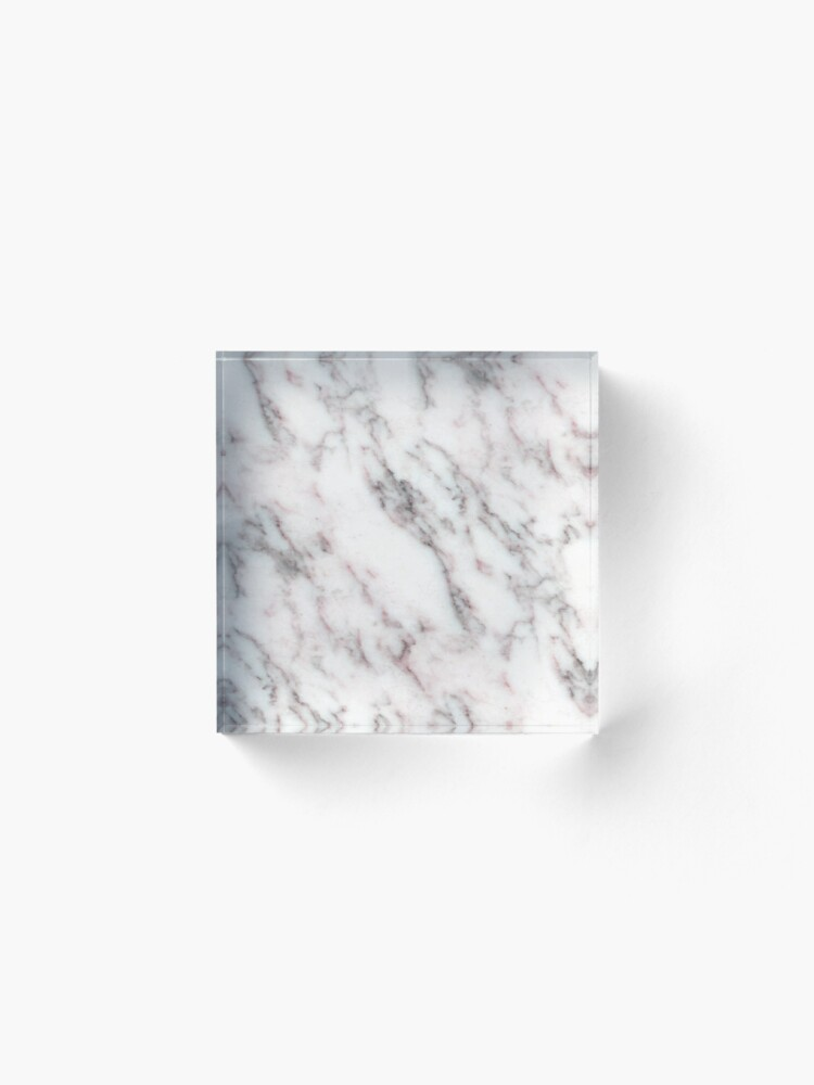 Alternative Ansicht von Soft Pink und Charcoal Venen auf Schlagsahne Marmor Acrylblock