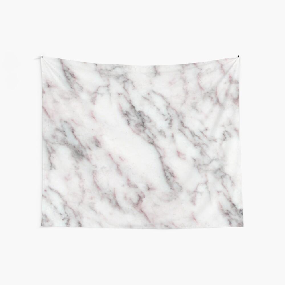 Soft Pink und Charcoal Venen auf Schlagsahne Marmor Wandbehang