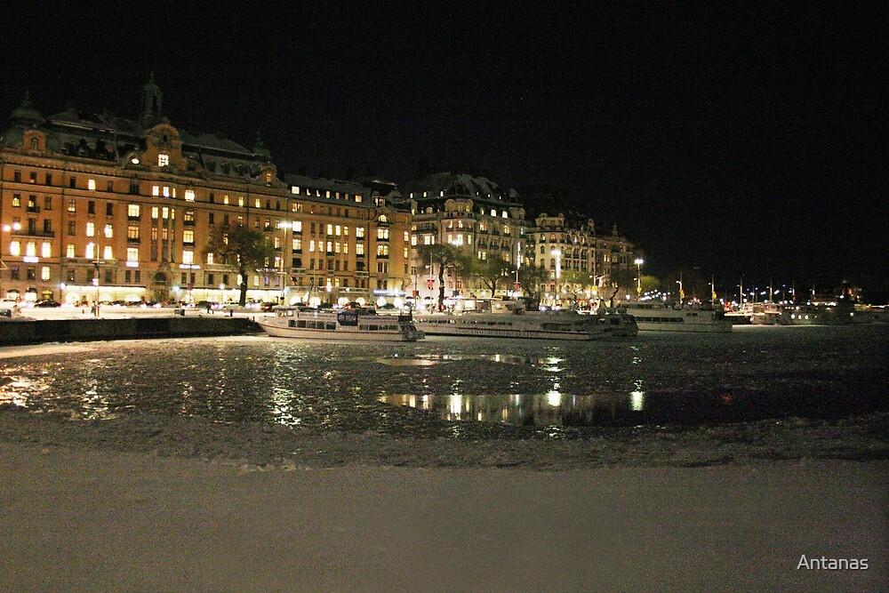 Travel harbor of Tourists  (Stockholm, Sweden) by Antanas