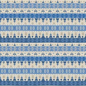 Tribal Pattern - Snow Blue by Skullz23