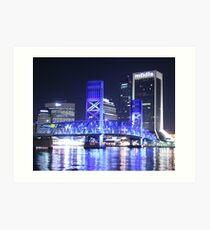 08-126 ~ Jax Blue Bridge at Night Art Print