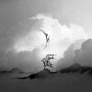 Faith is a Black and White Square Bird Artwork by Sto Hitro