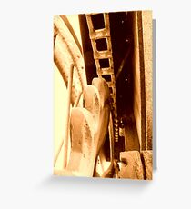 chain and sprocket Greeting Card