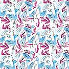 Blue Flamingo by printmesomecolo