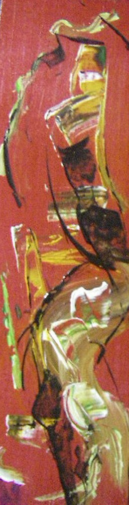 red abstract 3 by Isabelle Nivet