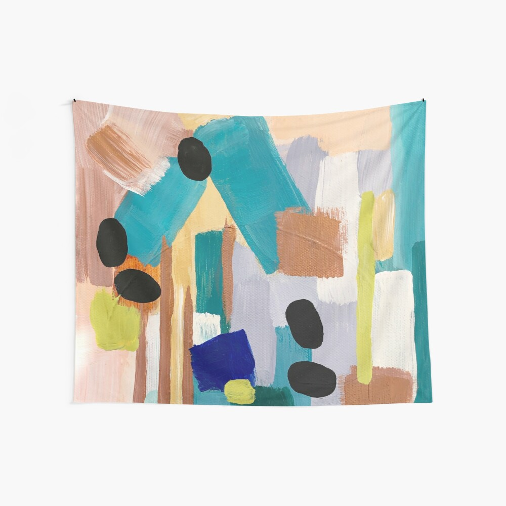 Dusty Quartz Abstract Wall Tapestry