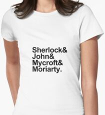 The Beatles Sherlock Style Womens Fitted T-Shirt