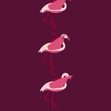 Flamingo Do not See Hear Speak by Wuselsusel