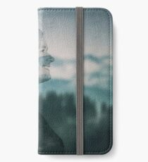 stirred mountains double exposure iPhone Wallet/Case/Skin