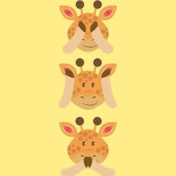 Giraffe Do not Hear See Speak by Wuselsusel