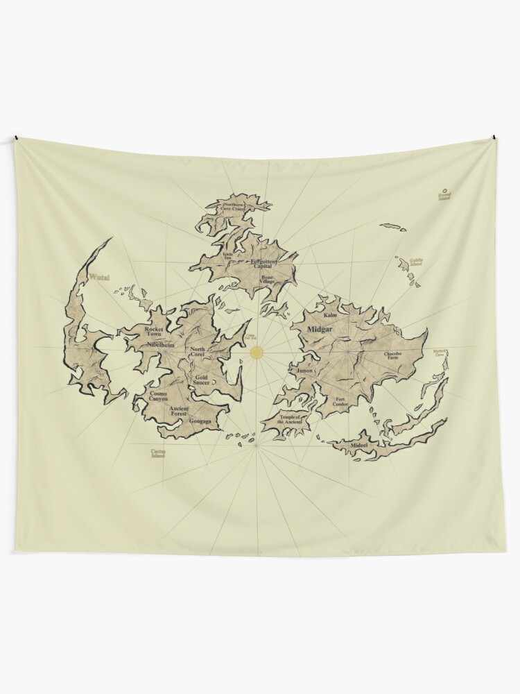 FF7 Vintage Map V01 | Wall Tapestry