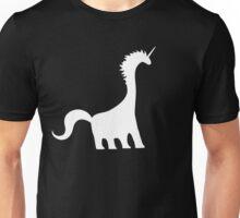 Unicorn Brachiosaurus (White design) Unisex T-Shirt