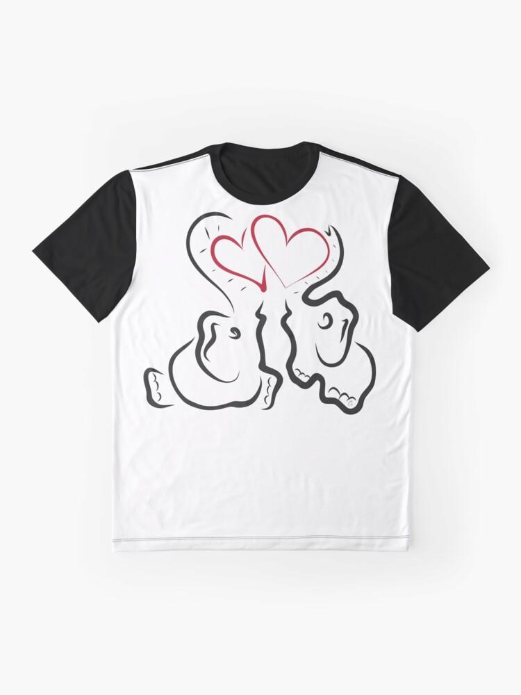 Vista alternativa de Camiseta gráfica Amor elefante 2