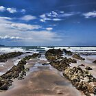 Widemouth Bay Rock Formation by Avril Harris