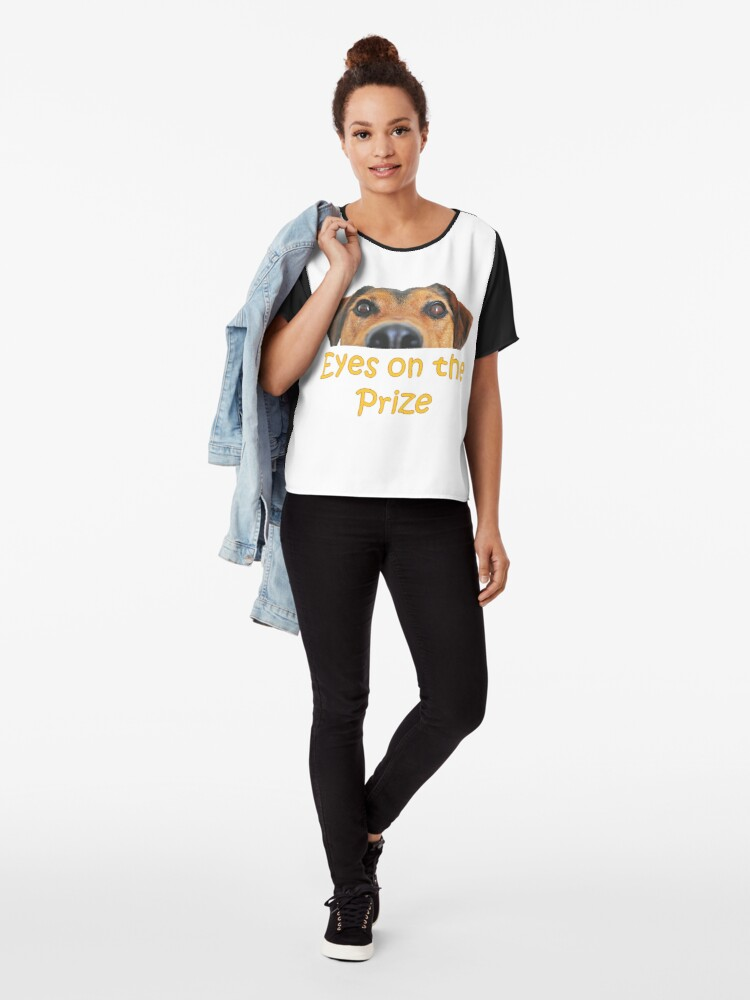 Alternate view of College Student Eyes on the Prize Gift Chiffon Top