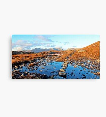 Stepping Stones, Meallan a' Chuail Canvas Print