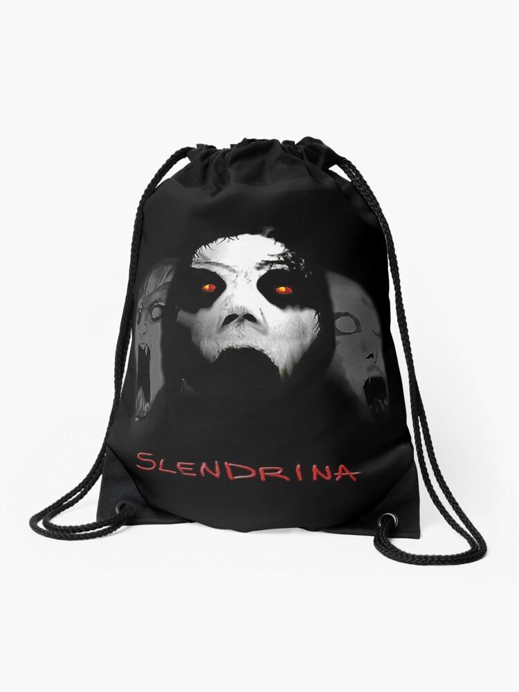 Inspired by the Mobile Horror Game Slendrina - Granny   Drawstring Bag