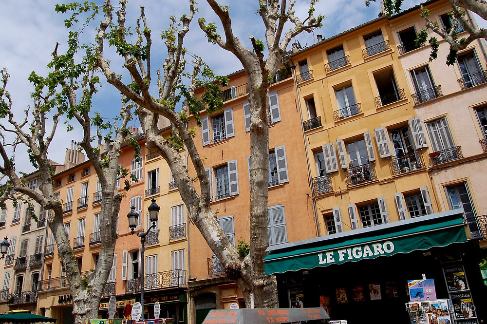 City Hall Square in Aix-en-Provence by Ralph Angelillo