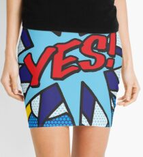 Comic Book YES! Mini Skirt