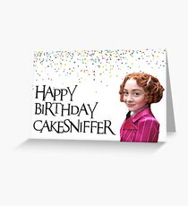 Eine Reihe unglücklicher Ereignisse, Carmelita Spats, Happy Birthday CakeSniffer! Trendy, adrett, cool, einfach weil, süß, gute Stimmung Grußkarte
