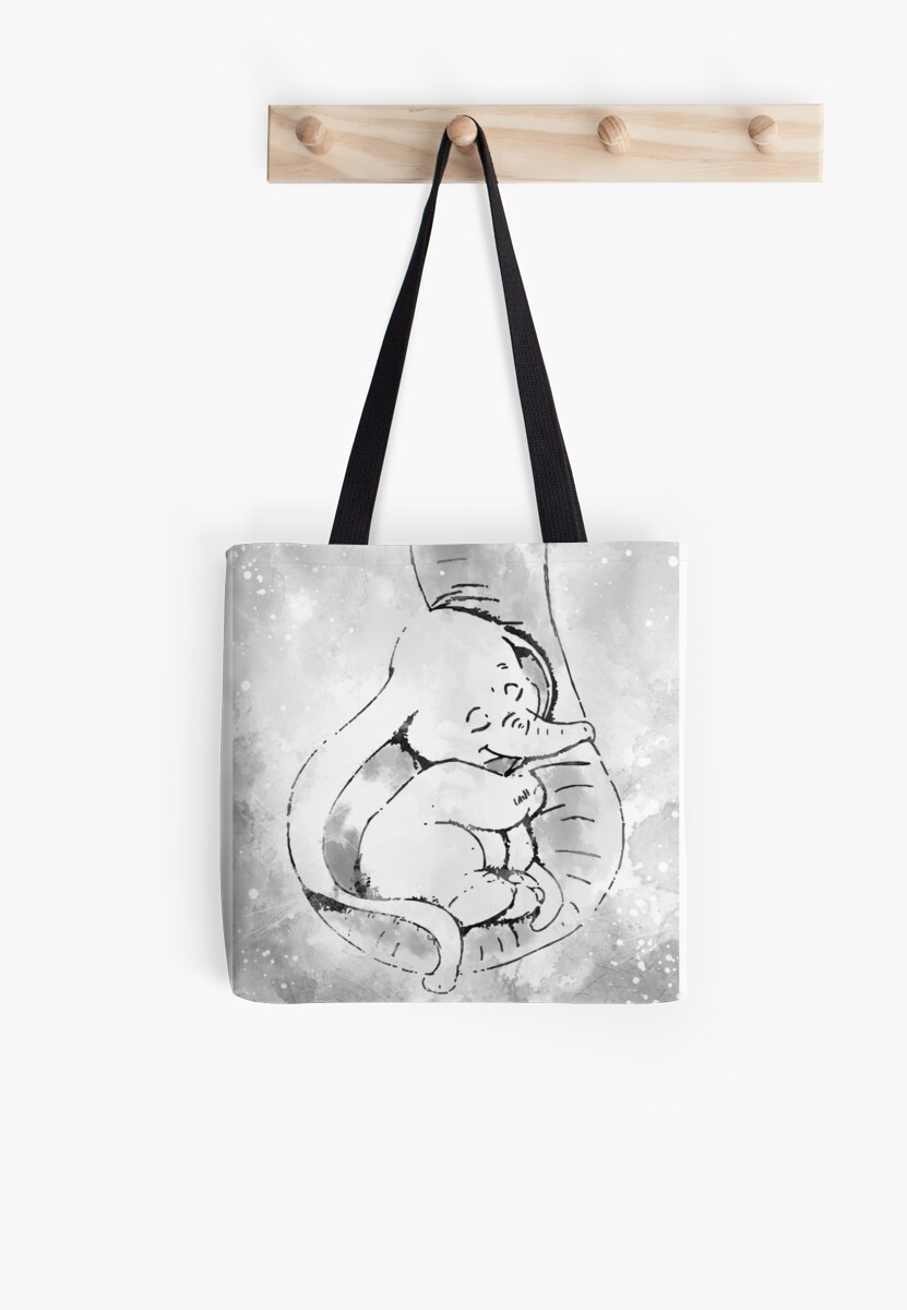 Dumbo and his mother Tote Bag