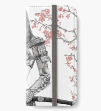 Samurai lady with blossoms iPhone Wallet/Case/Skin