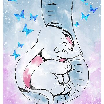 Dumbo and his mother by Rosaliartbook