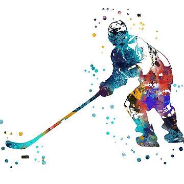 Hockey player by Rosaliartbook