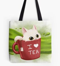 Tea cat Tote bag