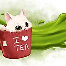 « Tea cat » par Léa Matte