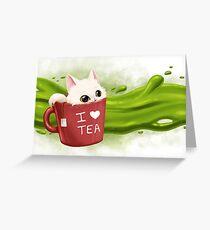 Tea cat Carte de vœux