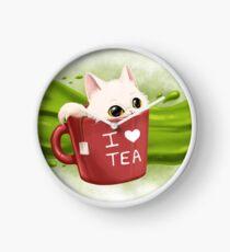 Tea cat Horloge