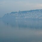Ohrid foggy sunset by distracted