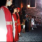 Ligurian Medieval troupe in Airole, Italy by BronReid