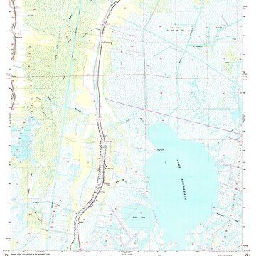 USGS TOPO Map Louisiana LA Dulac 331883 1964 24000 by wetdryvac