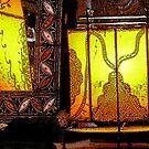 lamp & mirror by Bruce  Dickson