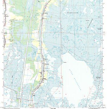 USGS TOPO Map Louisiana LA Dulac 331884 1994 24000 by wetdryvac