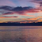 Lake ohrid sunset by distracted