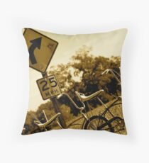 Along Time Ago, Just Around the Bend Throw Pillow