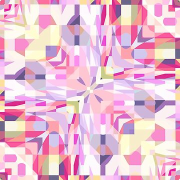 Remix Colorful Square Mandala 01 by kellydietrich