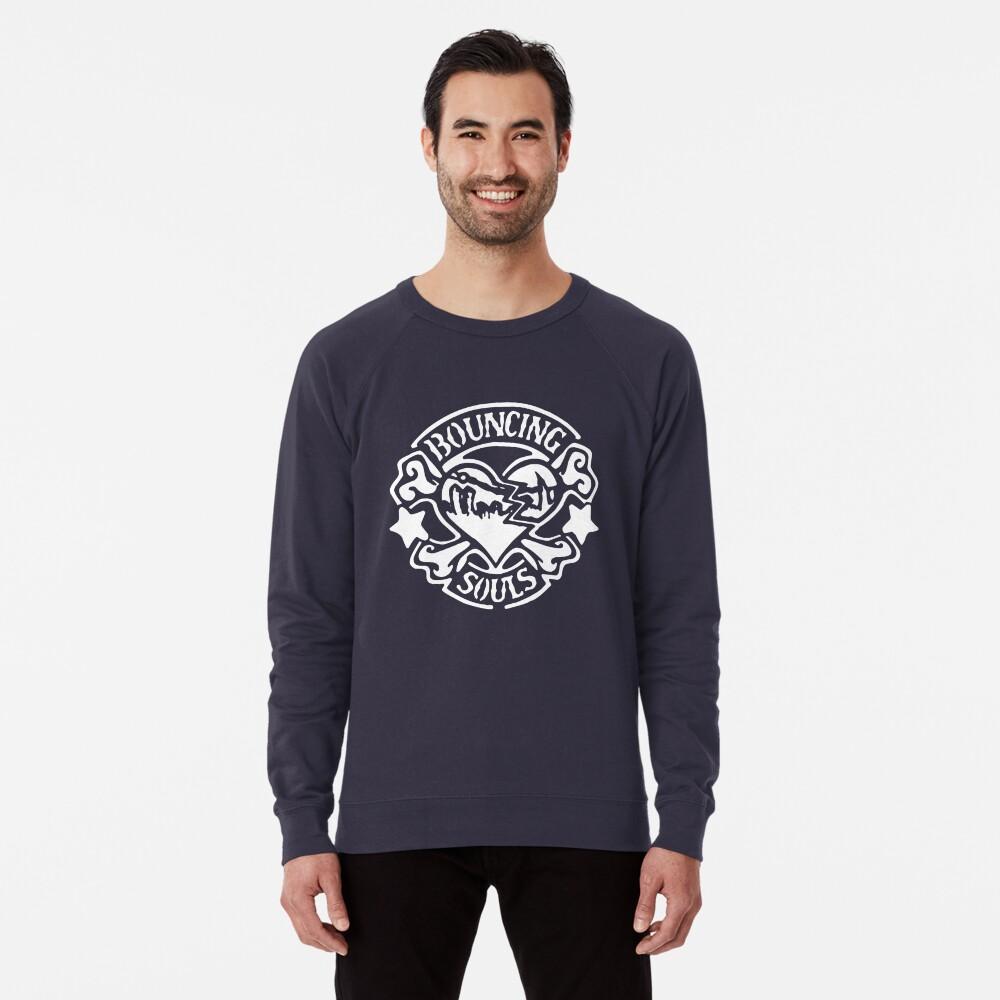 Bandschablone - Weiß Leichter Pullover