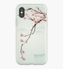 Vinilo o funda para iPhone Whimsical Pink Cherry Blossom Tree
